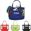 The Surfside Mesh Tote Bag - Tote bag with front open pocket.