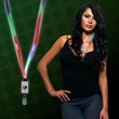 Light Up LED Lanyard with Badge Clip - Multi Color light up LED lanyard with badge clip
