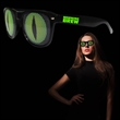Cat Eye Billboard Sunglasses - Black plastic billboard sunglasses with cat eye lenses.