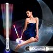 "20 3/4"" Light Up Glitter Baton with Strobe"