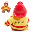 """8"""" Fireman Bear with one color imprint"""