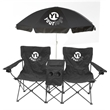 Double Chair with Umbrella, Cooler and Speakers - Double chair with umbrella, cooler and speakers