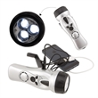 SURVIVOR 4-IN-1 DYNAMO FLASHLIGHT - Emergency tool with crank-powered FM scan radio, charger and flashlight