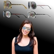 Aviator Billboard Sunglasses - Aviator-style billboard sunglasses made of plastic with a full color imprint on both lenses.