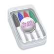 Mini Box 4 Pack Mini Permanent Markers with Full Color Decal