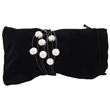 """7 Pearl Leather Bracelet - 8 1/2"""" long leather bracelet with seven pearls and a stainless steel magnetic clasp."""