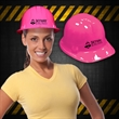 Pink Construction Novelty Hat - Pink plastic construction Novelty hat.