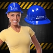 Blue Plastic Novelty Construction Hat  - Our blue plastic construction hat is perfect to wear/ hand out when you are celebrating new construction with a blue color schem
