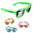 """Mirrored Sunglasses - Colorful """"Blue's Brothers"""" style sunglasses with mirror lenses; offers 100% UVA and UVB protection."""