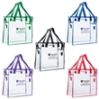 "Clear Stadium Bag - 12"" x 12'"" x 6"" clear stadium bag with reinforced handle stitching and adjustable length shoulder strap."