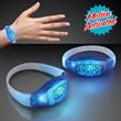 Light Up Blue LED Motion Activated Bracelets