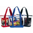 Clear Zipper Tote Bag - Fashion tote bag with side pocket.