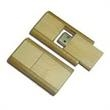 64MB Bamboo USB Flash Drive (Slide Out) - 64MB slide out USB flash drive, bamboo.
