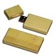 512MB Bamboo USB Flash Drive With Square Edges - 512MB USB flash drive with square edges, bamboo.