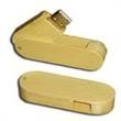 128MB Bamboo USB Flash Drive (Swivel/Rotate) - 128MB bamboo swivel USB flash drive.