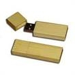 128MB Bamboo USB Flash Drive With Square Edges - 128MB bamboo flash drive with square edges.