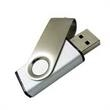 128MB Swivel USB Flash Drive - 128MB silver ABS plastic and aluminum USB 2.0 flash drive with swivel drive.