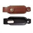 4GB Leather USB Flash Drive With Holster - 4GB USB 2.0 flash drive made from leather and metal with holster.