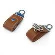 16GB Leather USB Flash Drive With Key Ring - 16GB USB 2.0 flash drive made from leather and metal with key ring.