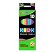 """10 Pack Neon Colored Pencils - 7"""" Pre-Sharpened"""