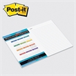 "Post-it(R) Custom Printed Notepad - Custom printed note pad, 6"" x 8"", 25 sheets, 4 color."