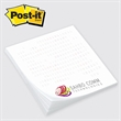 "Post-it Custom Printed Notepad - Custom printed note pad, 2 3/4"" x 3"", 25 sheets, 4 color."