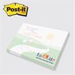 "Post-it(R) Custom Printed Notepad - Custom printed program, 3"" x 4"", 25 sheets, 4 color."
