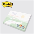 "Post-it Custom Printed Notepad - Custom printed note pad, 3"" x 4"", 50 sheets, 4 color."