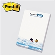 "Post-it(R) Custom Printed Notepad - Custom printed note pad, 4"" x 6"", 25 sheets, 4 color."