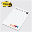 "Post-it(R) Custom Printed Notepad - Custom printed note pad, 4"" x 6"", 50 sheets, 4 color."