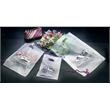 Frosted Clear Poly Merchandise Bag - Die cut merchandise bag with pinch bottom.