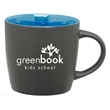 12 oz. Matte Black Ceramic Coffee Mug with Colored Interior