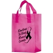 """Breast Cancer Awareness Pink Frosted Soft Loop - Flexo Ink - Breast Cancer Awareness Pink Frosted Soft Loop Plastic Shopping Bags with Insert (10""""x5""""x13"""") - Flexo Ink"""