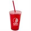 22 oz Stadium Cup with Lid and Straw