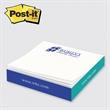 "Post-it(R) Custom Printed Notes Slim Cube - Post-it Notes slim-cube 2 3/4"" x 2 3/4"" x 1/2"", 1 design side printed."