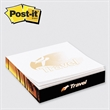 "Post-it(R) Custom Printed Notes Slim Cube - Post-it Notes slim-cube 2 3/4"" x 2 3/4"" x 1/2"", 4 color with 4 designs."
