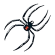 Black Widow Temporary Tattoo - Black Widow Temporary Tattoo