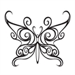 Black Tribal Butterfly Temporary Tattoo - Black Butterfly Temporary Tattoo