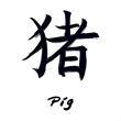 Chinese Zodiac: Pig Temporary Tattoo - Chinese Zodiac: Pig Temporary Tattoo