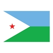 Flag of Djibouti Temporary Tattoo