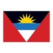 Antigua and Barbuda Flag Temporary Tattoo - Flag of Antigua and Barbuda Temporary Tattoo