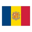 Andorra Flag Temporary Tattoo - Flag of Andorra Temporary Tattoo