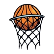 Basketball in Hoop Temporary Tattoo - Basketball in Hoop Temporary Tattoo