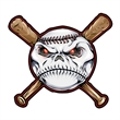 Baseball and Bats Temporary Tattoo - Baseball Temporary Tattoo