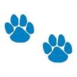 Glitter Blue Paw Prints Temporary Tattoos - Glitter Blue Paw Prints Temporary Tattoos