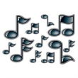 Black Dimensional Music Note Temporary Tattoo - Black Dimensional Music Note Temporary Tattoo
