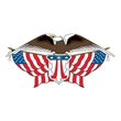 American Eagle with Flags Temporary Tattoo - American Eagle with Flags Temporary Tattoo