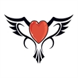 Bird Heart Temporary Tattoo - Bird Heart Temporary Tattoo
