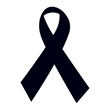 Black Awareness Ribbons Temporary Tattoo - Black Awareness Ribbon Temporary Tattoo