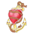 Heart and Anchor Temporary Tattoo - Heart and Anchor Temporary Tattoo